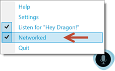 Dragon menu, networked